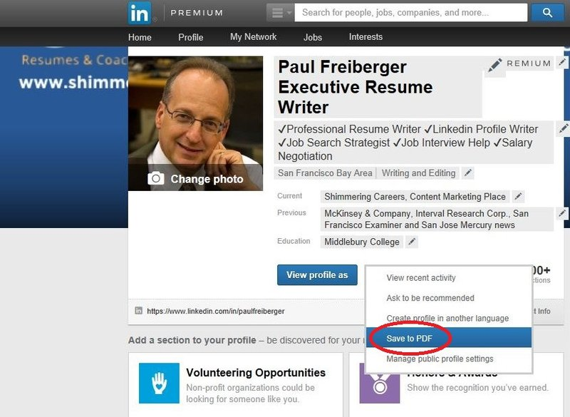 how to download data on linkedin