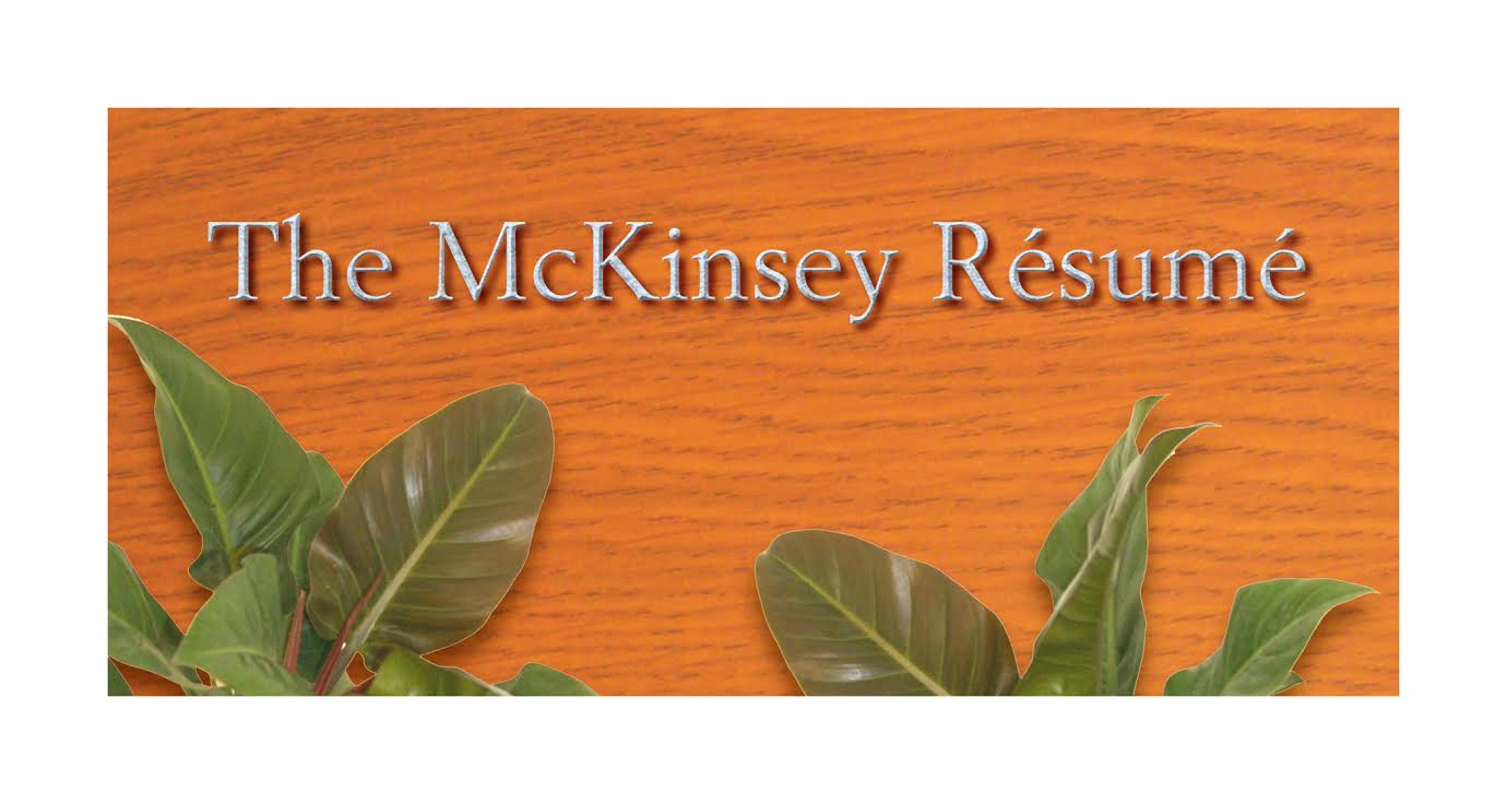 how to write a mckinsey resume